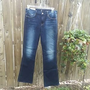 "7 for all Mankind the ""A"" pocket bell bottom jeans"